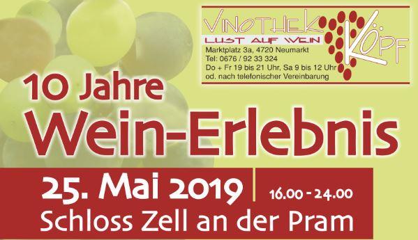 Weinerlebnis 2019 Schloss Zell